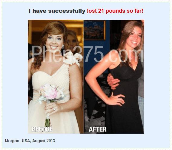 Real phen375 testimoinals photo, Morgan before-after